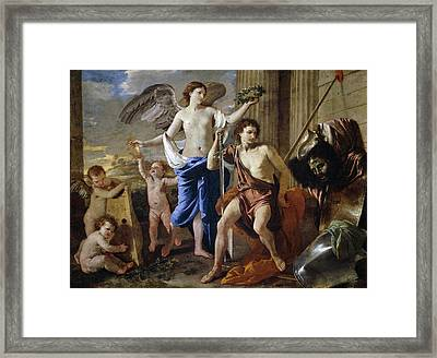 The Triumph Of David Framed Print by Nicolas Poussin