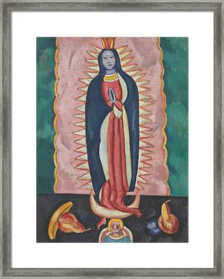 The Virgin Of Guadalupe Framed Print by Marsden Hartley