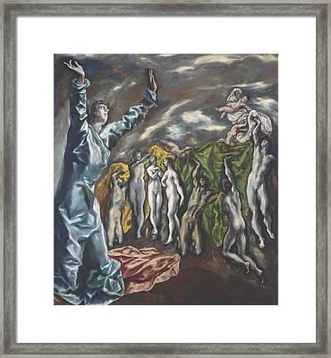 The Vision Of Saint John Framed Print