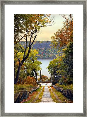 The Vista Steps Framed Print by Jessica Jenney