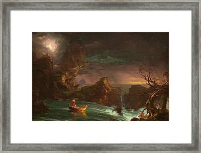 The Voyage Of Life, Manhood Framed Print
