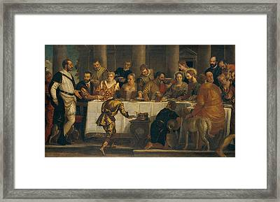 The Wedding At Cana Framed Print by Paolo Veronese