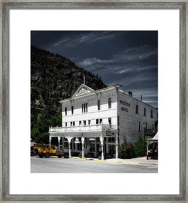 The Western Hotel Framed Print by Mountain Dreams