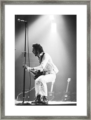 The Who's Pete Townshend 1972 Framed Print by Chris Walter
