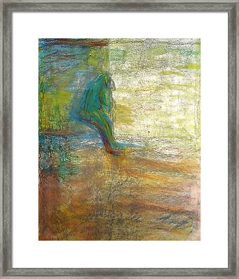 Thinking Framed Print by Contemporary Luxury Fine Art