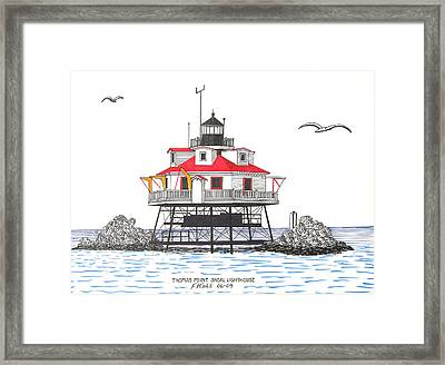 Thomas Point Shoal Lighthouse Framed Print by Frederic Kohli