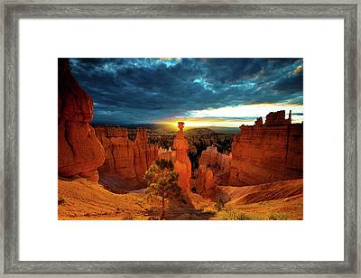 Framed Print featuring the photograph Thor's Hammer by Norman Hall