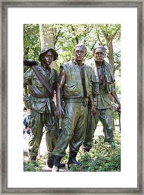Three Soldiers Framed Print by David Bearden