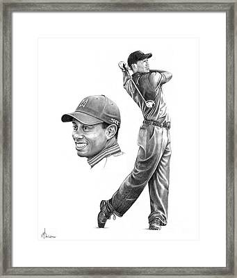 Tiger Woods Framed Print