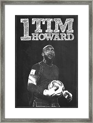Tim Howard Framed Print