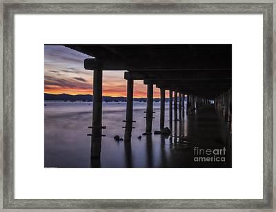 Timber Cove Framed Print