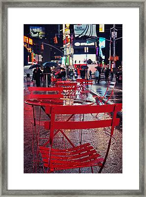 Times Square Framed Print by Benjamin Matthijs