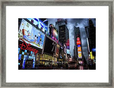 Times Square Framed Print by Martin Newman
