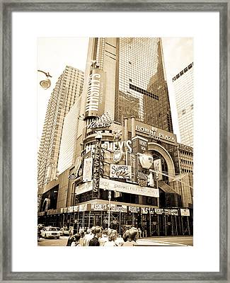 Times Square New York Framed Print