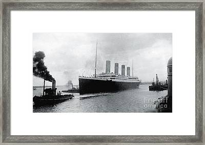 Titanic Leaving Southampton Framed Print