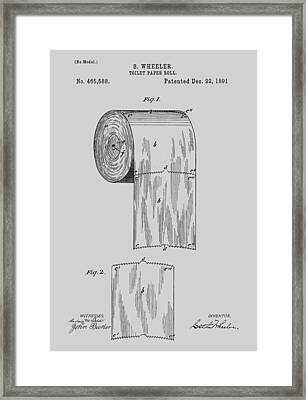 Toilet Paper Roll Patent 1891 Framed Print by Chris Smith