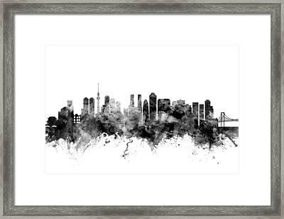 Tokyo Japan Skyline Framed Print by Michael Tompsett