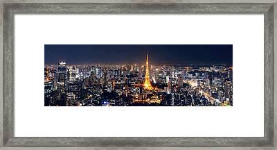 Tokyo Skyline Framed Print