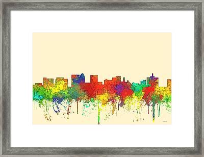 Topeka Kansas Skyline Framed Print