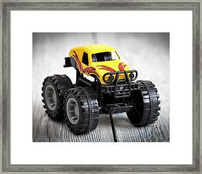 Toy Monster Truck Framed Print by Donald Erickson