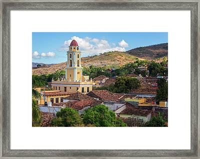 Framed Print featuring the photograph Trinidad Cuba Cityscape II by Joan Carroll
