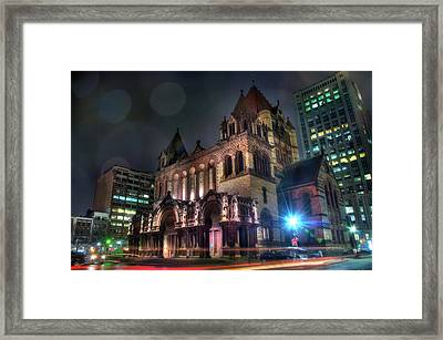 Framed Print featuring the photograph Trinity Church - Copley Square Boston by Joann Vitali