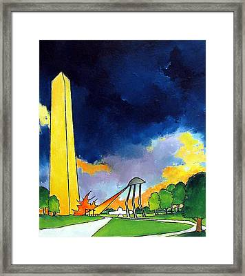 Tripod In D.c. Framed Print by James Smith