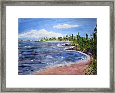 Trixies Cove Framed Print
