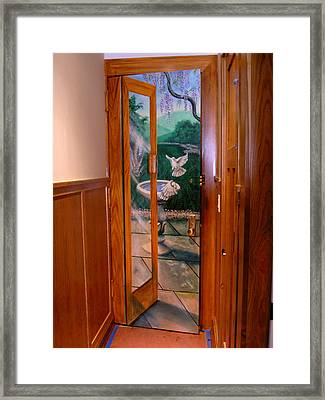 Framed Print featuring the painting Trompe L'oeil  by Thomas Lupari