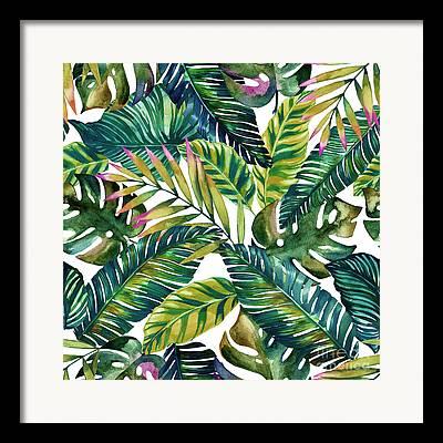 Leaf Collage Framed Prints