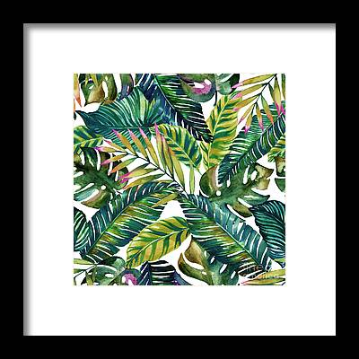 Flamingo Flower Framed Prints