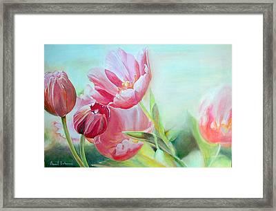 Tulipes Framed Print by Muriel Dolemieux