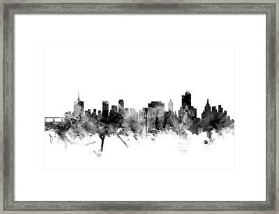 Tulsa Oklahoma Skyline Framed Print