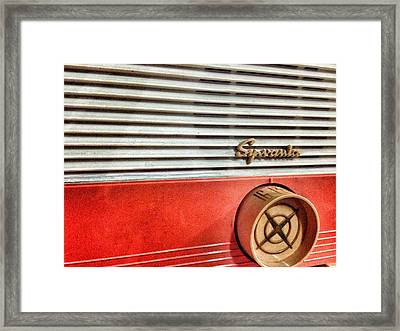 Framed Print featuring the photograph Tuning In by Olivier Calas