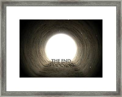 Tunnel Text And Shadow Concept Framed Print