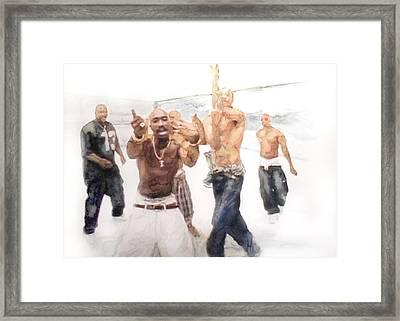 Tupac  Framed Print by Jani Heinonen
