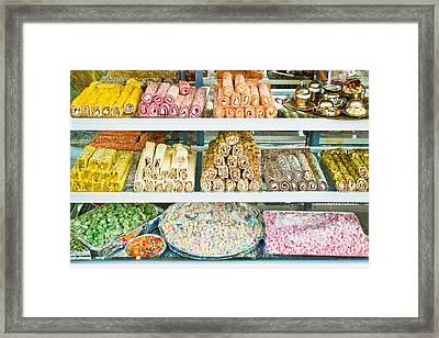 Turkish Confectionary Framed Print by Tom Gowanlock