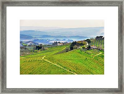 Tuscany Landscape Framed Print by Dutourdumonde Photography