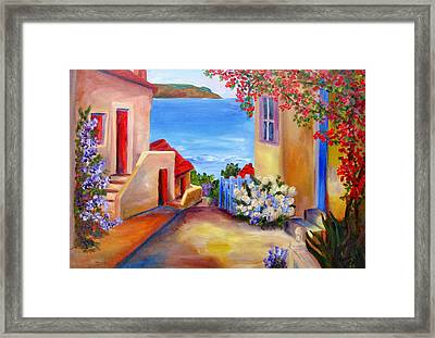 Tuscany Village  Framed Print