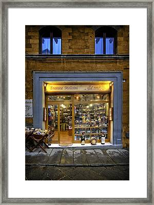 Tuscany Wine Shop Framed Print