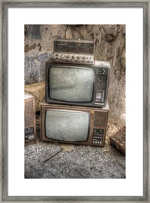 2 Tv's And A Radio Framed Print by Nathan Wright