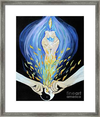 Twin Flame Framed Print