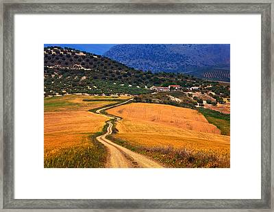 Twisty Road, Near Casabermeja, Malaga Framed Print by Panoramic Images