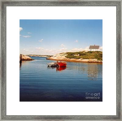 Two Boats Framed Print by Andrea Simon