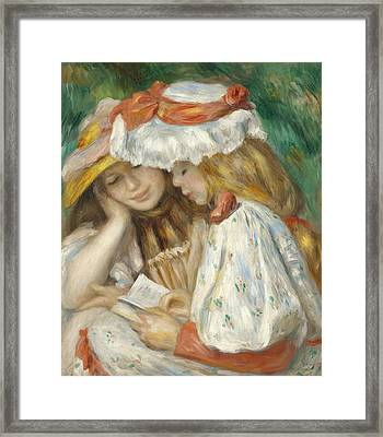 Two Girls Reading Framed Print