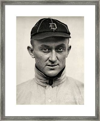 Ty Cobb Framed Print by American School