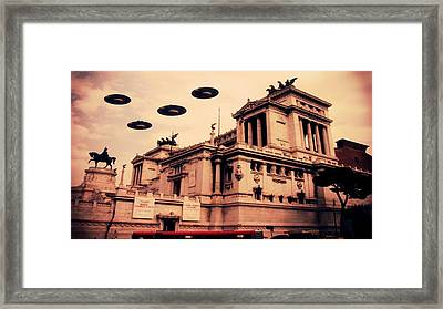 Ufo Rome Framed Print by Raphael Terra