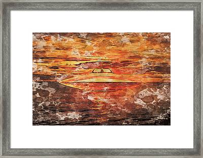 Ufo Variations By Rt And Mb Framed Print by Raphael Terra