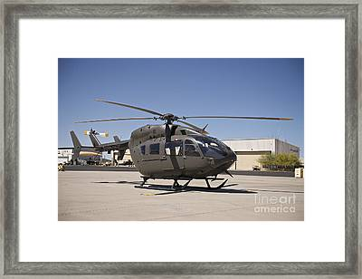 Uh-72 Lakota Helicopter At Pinal Framed Print by Terry Moore