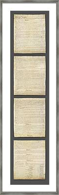 United States Constitution, Usa Framed Print by Panoramic Images